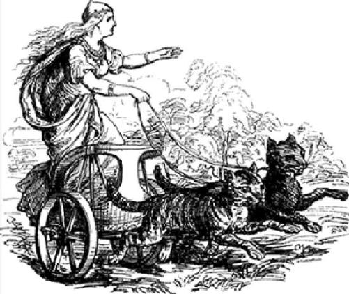 In real life, my chariot also happens to have two kittens.  Mind? Blown.